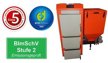 BImSchV Stufe 2 Automatischer Kohlekessel KLASTER-5 Klasse 5 Ecodesign