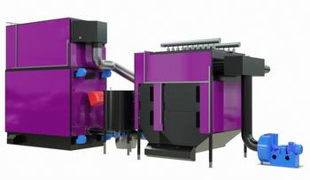 Industriekessel und industrielle Anlagen für Biomasse.