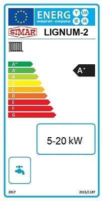 SIMAR Lignum-2 Energielabel A+